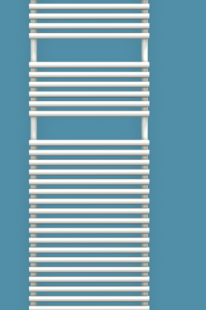 Bisque Straight Fronted 1876mm x 496mm Towel Rail - Electric