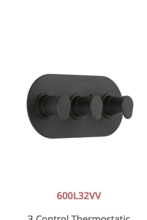 Cifial Black 3 Control Thermostat Valve Landscape 2 Outlets