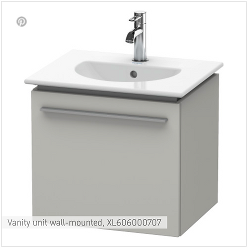 X-Large Vanity unit wall-mounted 600 x 497 mm