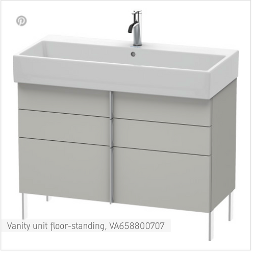 Vero Air Vanity unit floor-standing 984mm x 431mm