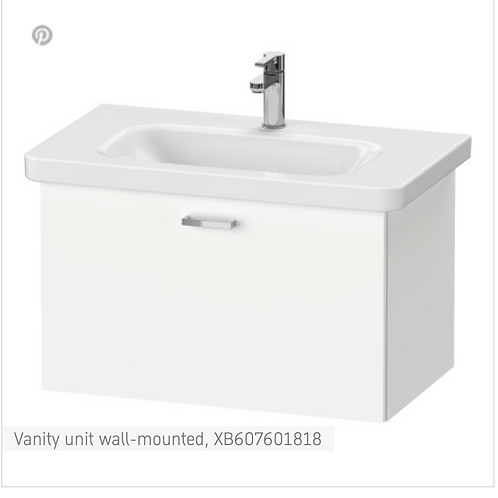 XBase Vanity unit wall-mounted 730 x 448 mm