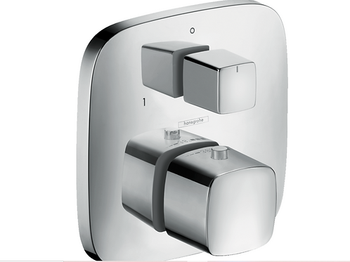 Hansgrohe PuraVida Thermostatic mixer for concealed installation with shut-off /