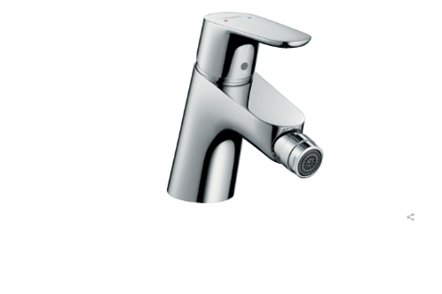 Hansgrohe Focus Single lever bidet mixer with 2 flow rates and pop-up waste