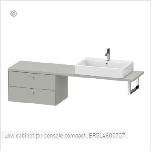 Duravit Brioso Low Cabinet For Console Compact 720mm x 480mm