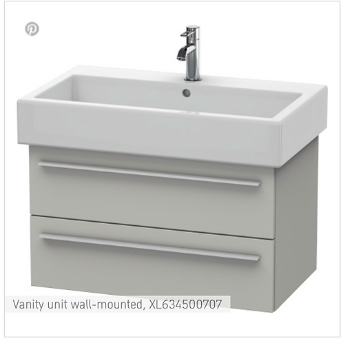 X-Large Vanity unit Wall Mounted 750 x 443 mm
