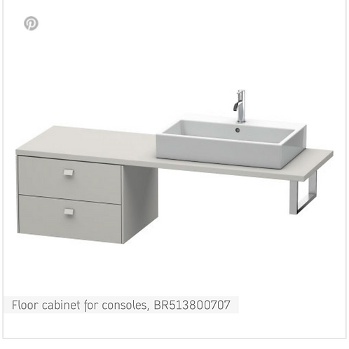 Brioso Vanity unit for console 620mm x 550mm