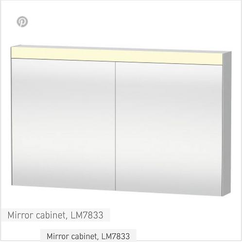 Duravit Universal Light And Mirror Mirror Cabinet 1210mm x 148mm