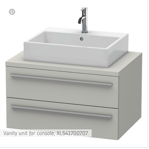 X-Large Vanity unit for console 800mm x 548mm