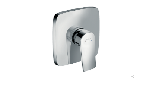Hansgrohe Metris Single lever manual shower mixer soft cube for concealed instal