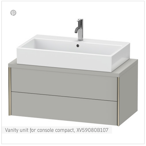 XViu Vanity unit for console compact 900mm X 478mm