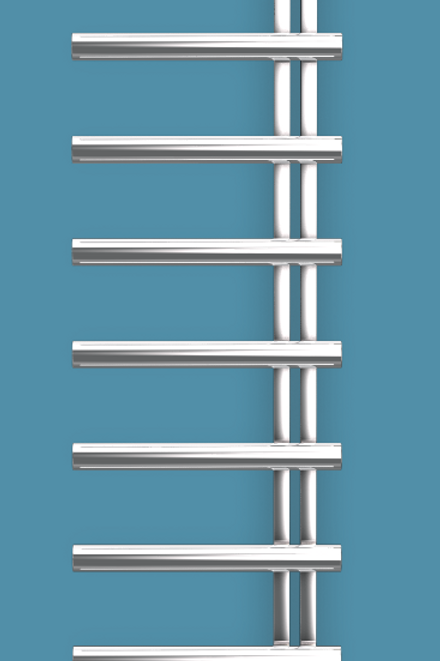 Bisque Chime 1830mm x 500mm Towel Rail - Electric Right Hand