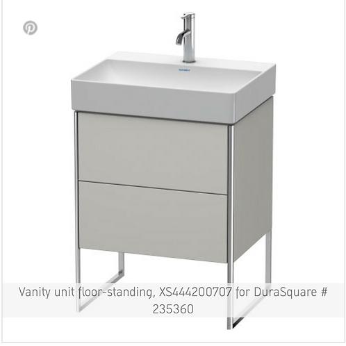 XSquare Vanity unit floor-standing 584 x 460 mm