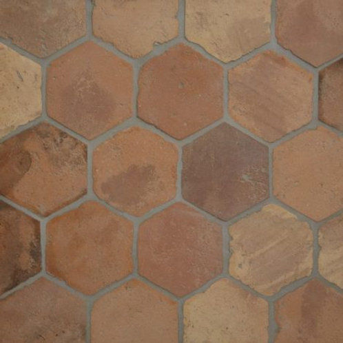 Antique Terracotta Hexagon 15 x 15cm Price Per Sqm
