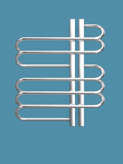 Bisque Orbit 600mm x 500mm Towel Rail - Right Hand