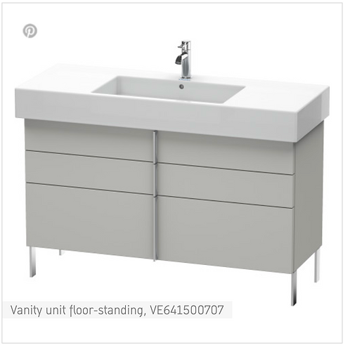 Vero Vanity unit floor-standing 1200mm x 446mm