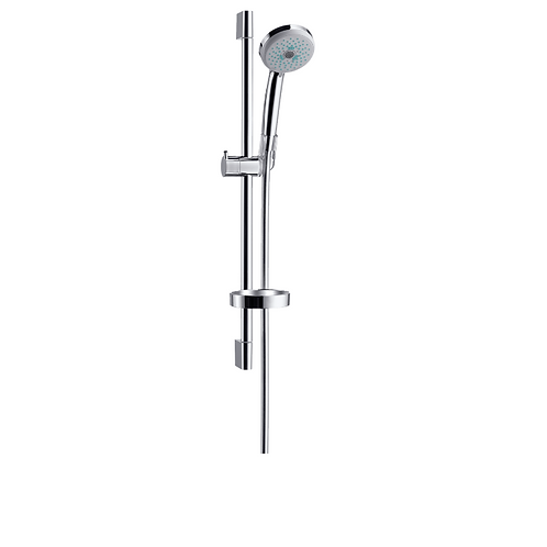 Hansgrohe Croma 100 Shower set Multi with shower rail 65 cm and soap dish
