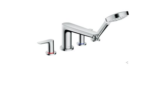 Hansgrohe Talis E 4-hole rim-mounted bath mixer