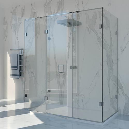 Shower Lab - View 23 - Inline Panel + Door + Two Return Panels 2000 x 1362mm