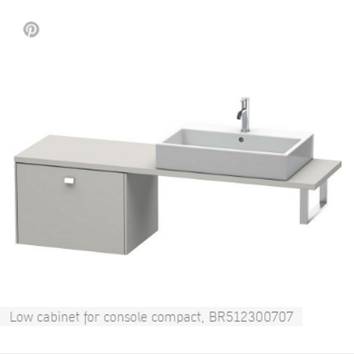 Duravit Brioso Low Cabinet For Console 620mm x 480mm