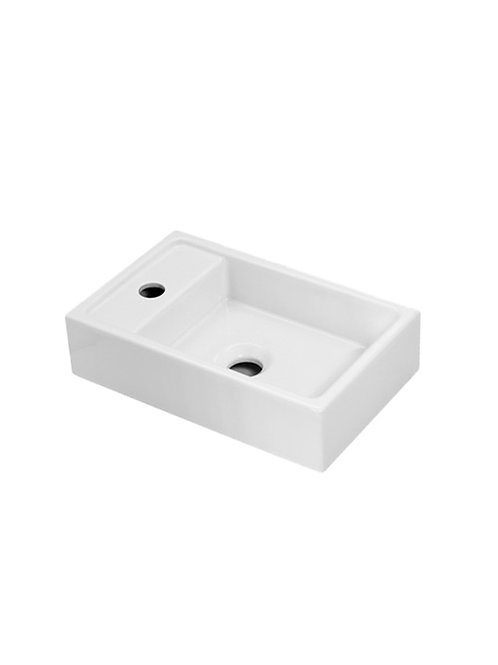 Cifial F5 Cloakroom Basin Right Hand Bowl