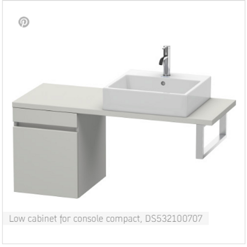 Duravit DuraStyle Low Cabinet For Console Compact 400mm x 478mm