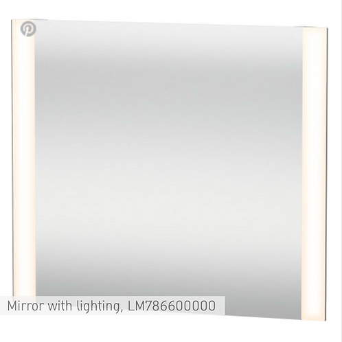 Duravit Universal Light And Mirror Mirror With Lighting 800mm x 34mm