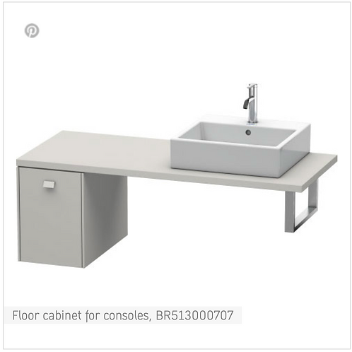 Brioso Vanity unit for console 320mm x 550mm
