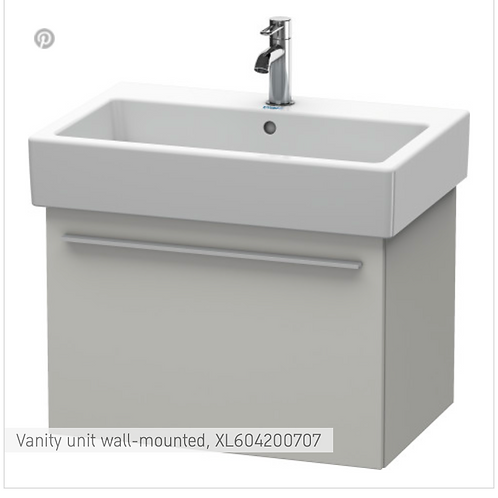 X-Large Vanity unit Wall Mounted 650 x 443 mm
