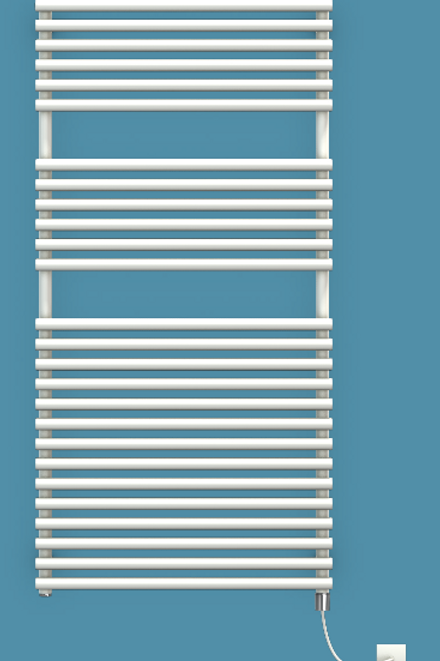 Bisque Straight Fronted 1196mm x 596mm Towel Rail - Electric
