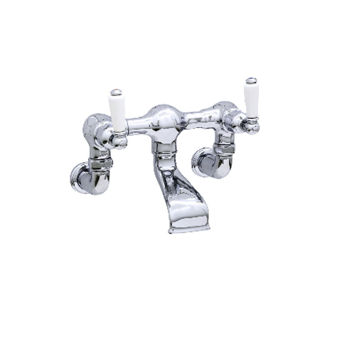 Perrin & Rowe Traditional Wall-Mounted Bath Filler with Lever Handles