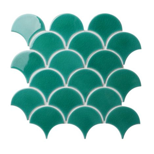 Atlantis Scallop Porcelain Emerald 29.3 x 27.4cm Price Per Sqm