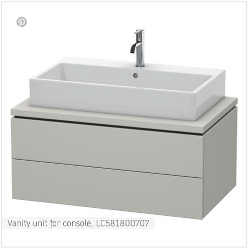 L-Cube Vanity unit for console 920mm x 547mm