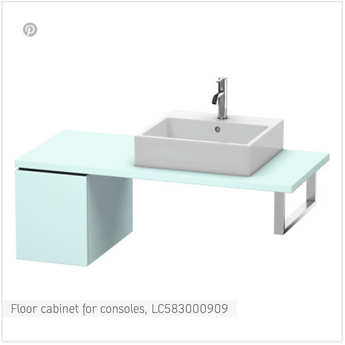 L-Cube Vanity unit for console 420mm x 547mm