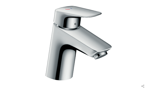 Hansgroe Logis Single lever basin mixer 70 CoolStart with pop-up waste