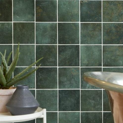 Bazaar Ceramic Moss Green 13.2 x 13.2cm Price Per Sqm