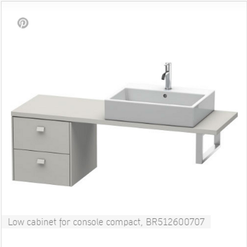 Duravit Brioso Low Cabinet For Console Compact 420mm x 480mm