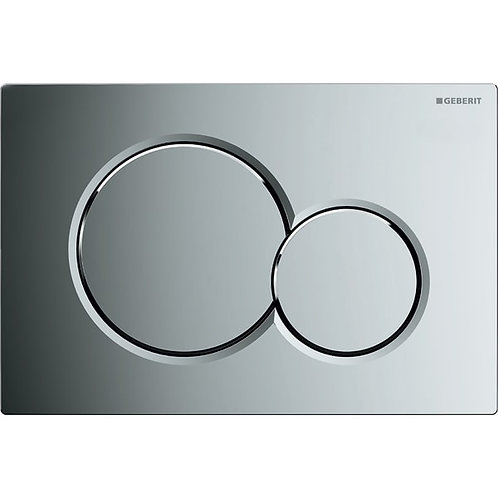 Geberit Flush Plate Sigma01 Gloss Chrome-Plated For Dual Flush