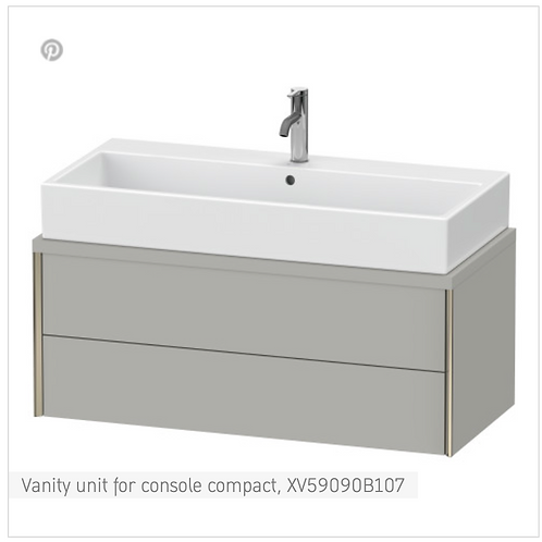 XViu Vanity unit for console compact 1000mm X 478mm