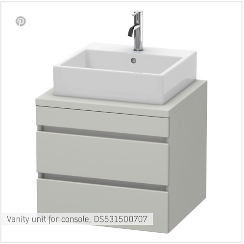 DuraStyle Vanity unit for console 600mm x 548mm