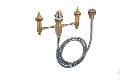 Hansgrohe  Basic set for 4-hole rim-mounted bath mixer
