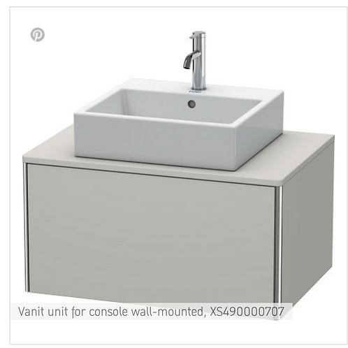 XSquare Vanit unit for console wall-mounted 800 x 548 mm