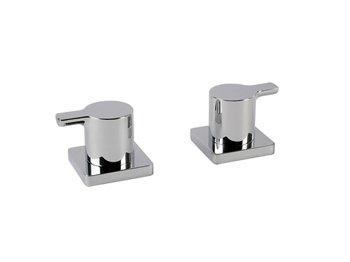 Coule Pair Deck Bath Valves
