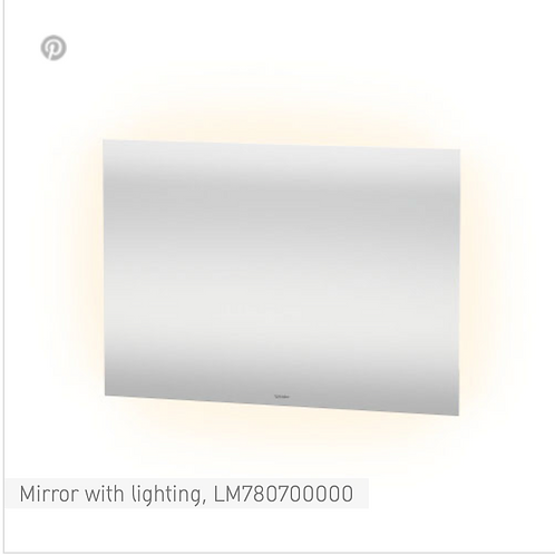 Duravit Universal Light And Mirror Mirror With Lighting 1000mm x 33mm