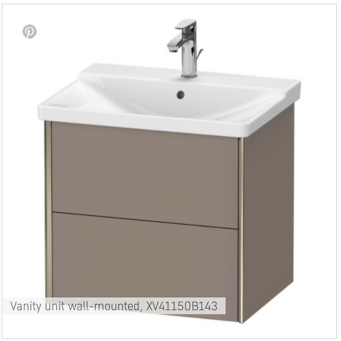 XViu Vanity unit wall-mounted 610 x 469 mm