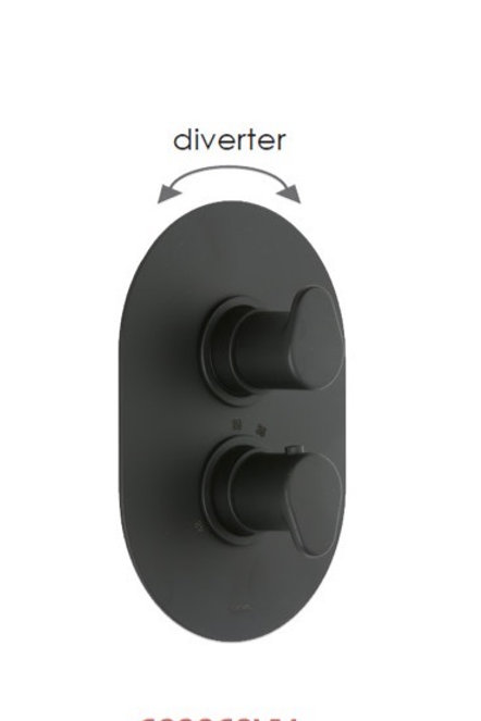 Cifial Black Thermostatic Valve