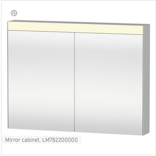 Universal Light and mirror Mirror cabinet 1010 x 148 mm