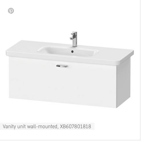 XBase Vanity unit wall-mounted 730 x 448 mm