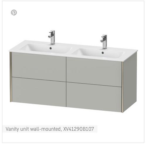 XViu Vanity unit wall-mounted 1280 x 480 mm