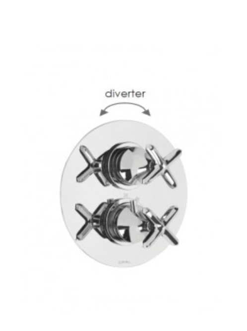 Cifial Hexa Thermostatic Valve With Diverter