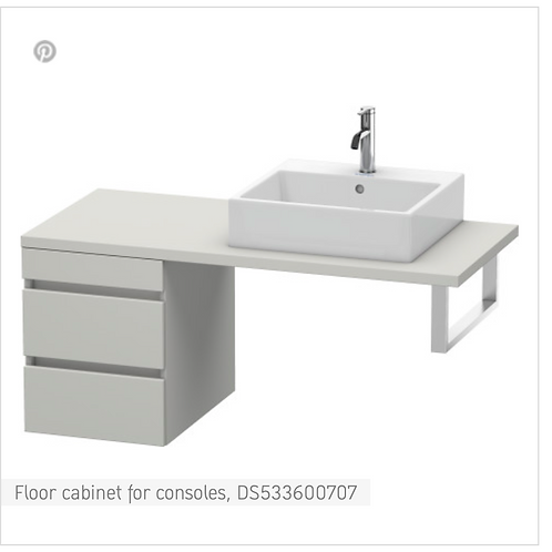 DuraStyle Floor cabinet for consoles 400mm x 548m